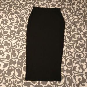 Black Missguided Bodycon midi skirt sz 8